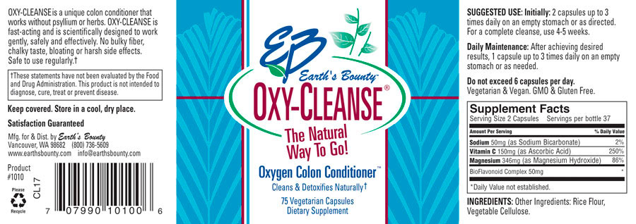 1010 Eb Oxy Cleanse 75 Count